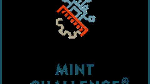 """Gewinner-Logo der MINTchallenge """"Neue Wege in der Wissenschaftskommunikation"""""""
