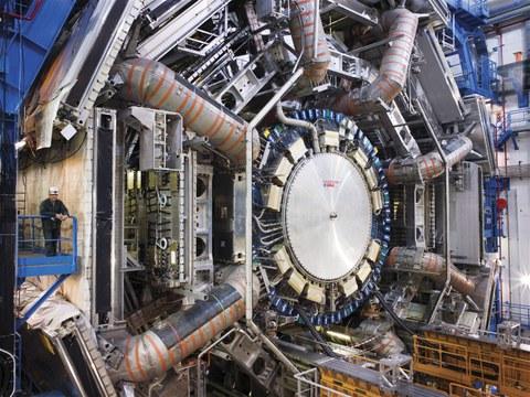 Der ATLAS-Detektor im geöffneten Zustand