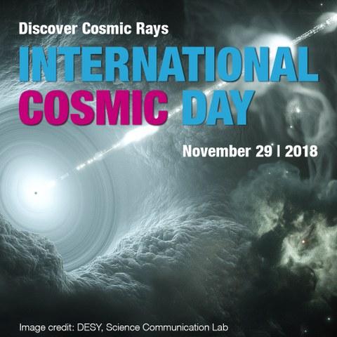 Künstlerische Darstellung von kosmischen Teilchen