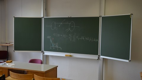 Tafelbild Teilchen- und Kernphysik