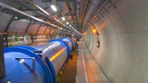 Blick in den LHC Tunnel