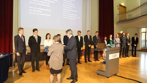 Valentin Link bekommt die Lohrmann-Medaille 2017 verliehen