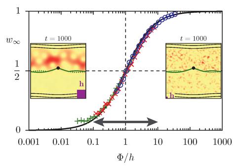 Strukturen im klassischen Phasenraum chaotischer Systeme regeln wie Drehtüren in Abhängigkeit vom Quotienten Drehtürgröße zu Planckscher Zelle den Transport zwischen zwei Regionen.