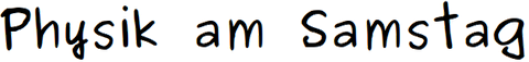 Physik am Samstag: Logo