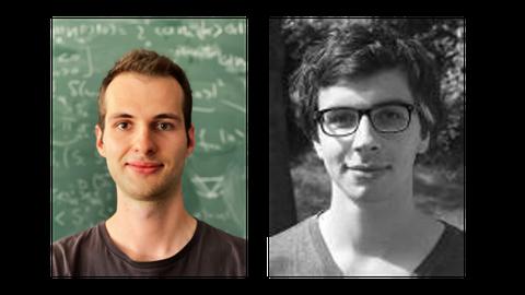 Left picture of Urban Seifer und left picture of Ruben Verressen - both winner of the Promotionspreis Dresden 2021