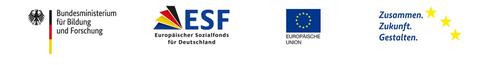 Logos BMBF, ESF usw.