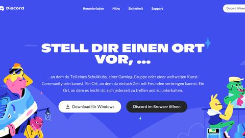 Das Bild zeigt einen Screenshot der Discord-Website