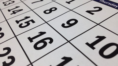 Bild eines Kalenders