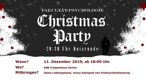 Plakat der Weihnachtsfeier