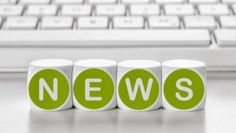 News als Buchstaben auf der Tastatur