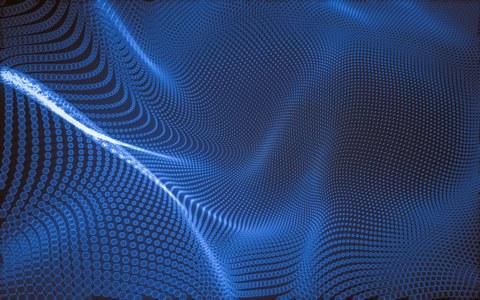 blaues abstractes bild