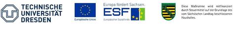 Logos der Drittmitelgeber und der TU Dresden im GAP-Projekt