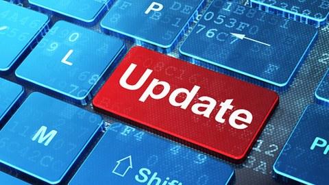 Tastatur mit dem Button Update