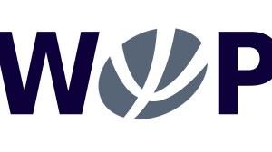 WOP-Logo Dunkelblau auf weiße Hintergrund