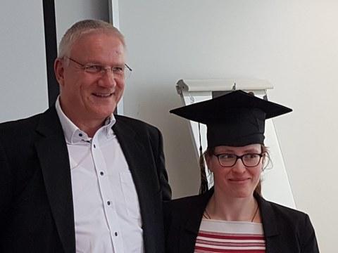 Prof. Wegge und die Doktorandine Franziska Jungmann