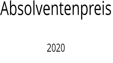 2 obere Zeilen des Urkundenbogens für den Absolventenpreis 2020
