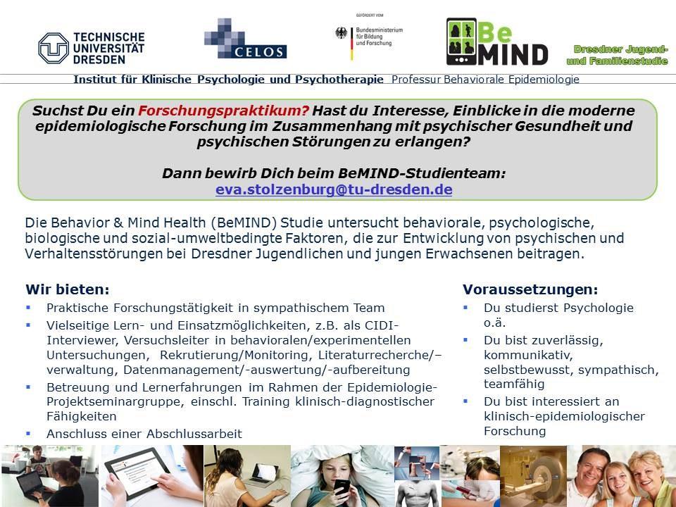 Forschungspraktika — Professur für Behaviorale Epidemiologie — TU ...