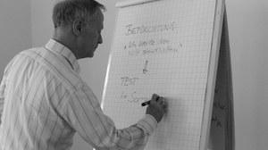 Prof. Hoyer in der Lehre