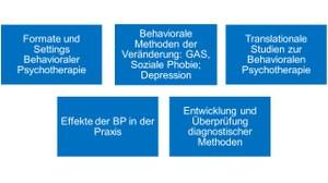 Aufgabengebiete Behaviorale Psychotherapie