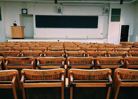 Foto von leerem Vorlesungssaal