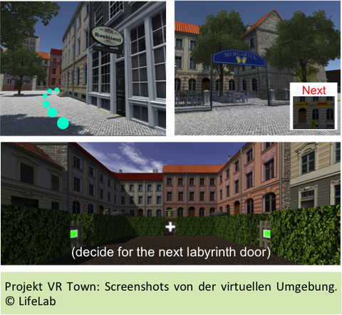 the picture of a virtual city
