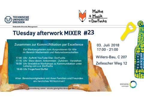 Infoplakat TUesday After Work Mixer