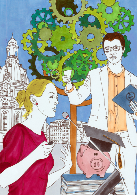Postkartenmotiv Forscher-Alumni