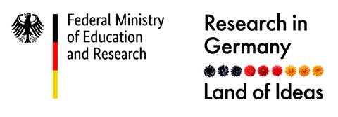 "BMBF-Logo ""Research in Germany"""
