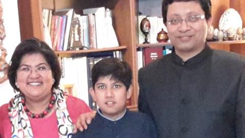 Prof. Sengupta with his family