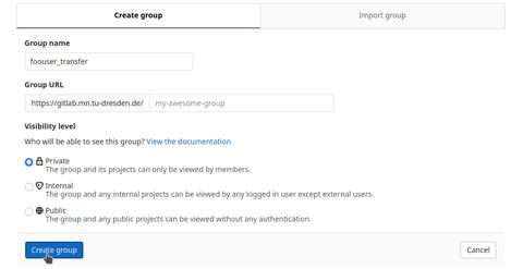 create group 2