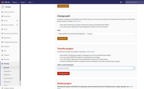 transfer repository