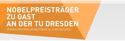 "Text-Kopfzeile des Werbeposters ""Nobelpreisträger an der TU Dresden"""