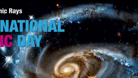 International Cosmic Day Banner