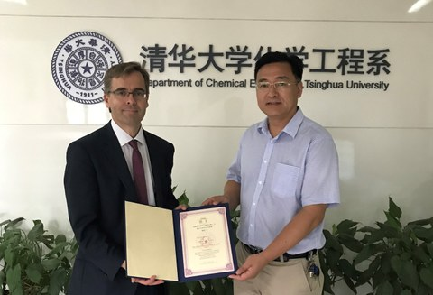 Stefan Kaskel wird Distinguished Visiting Professor an der Tsinghua U