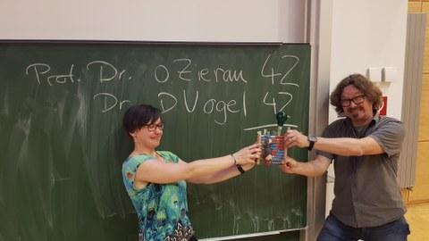 Zwei Finalisten im Battle um den Pokal des Math.-Nat. Konvent