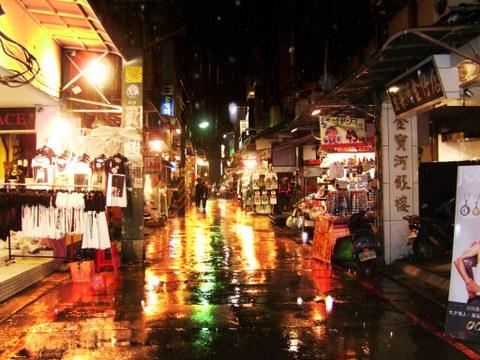 Taiwan night market in a rainy mood