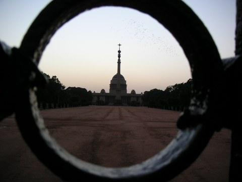 Blick auf den Präsidentenpalast in Neu Delhi