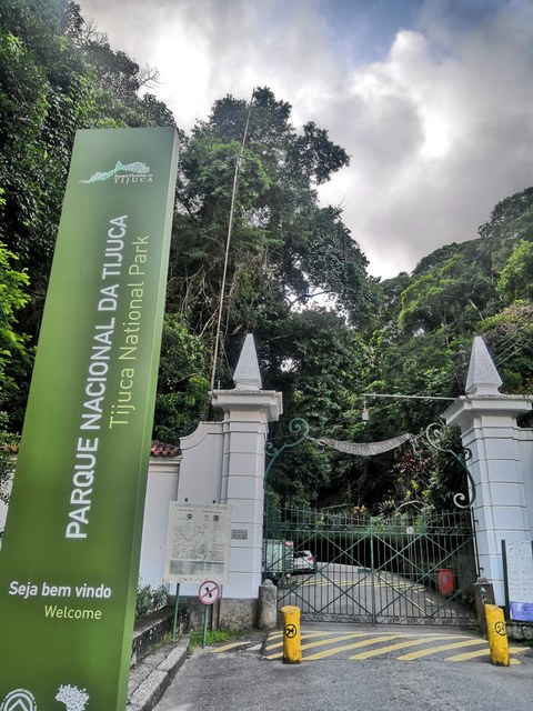 Eingang zum Tijuca Nationalpark