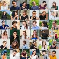 Collage mit Gesichtern von Studierenden der TU Dresden