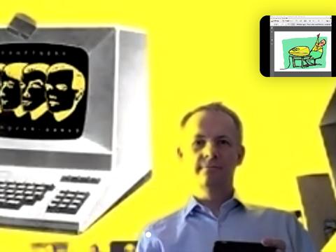Screenshot einer bunten Videokonferenz.