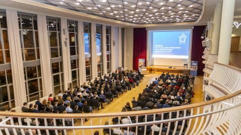 Blick in den Dülfersaal während des Programms