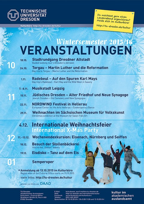 Programm in the winter semester 2015/16