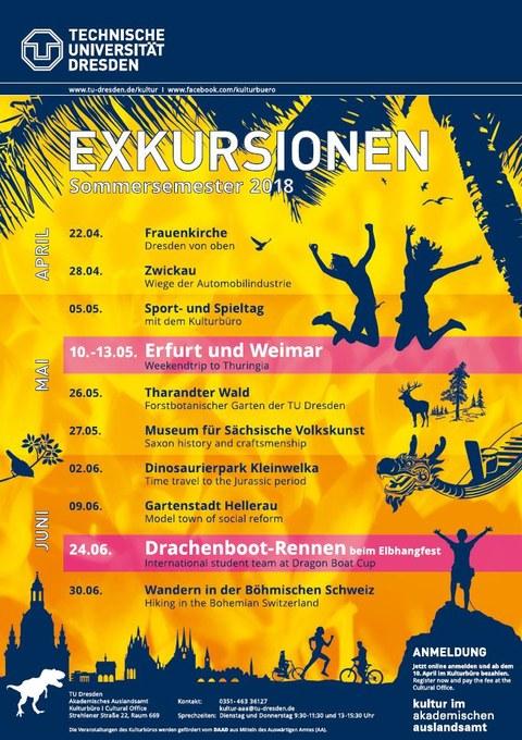 Plakat Kulturprogramm SoSe 2018