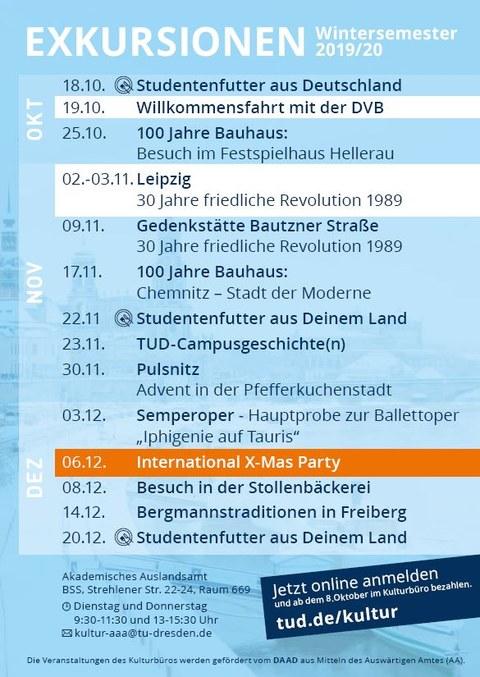 Kulturbüro WS19 Flyer A6 Deutsch Programm