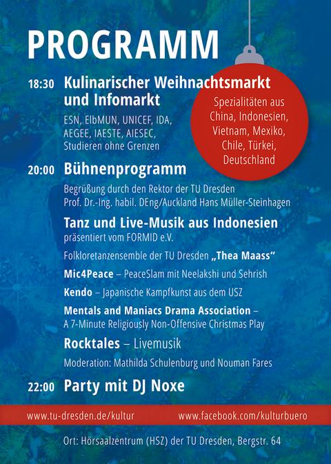 Programm Xmas Party 2018