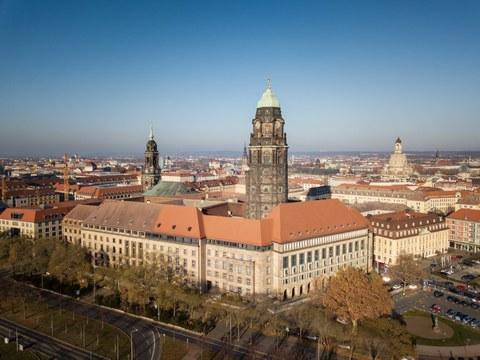 Foto des Rathauses in Dresden