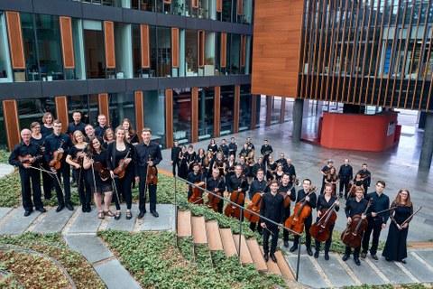 Foto des Universitätsorchesters der TU Dresden