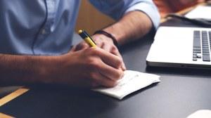 Notizen in einen Block schreiben