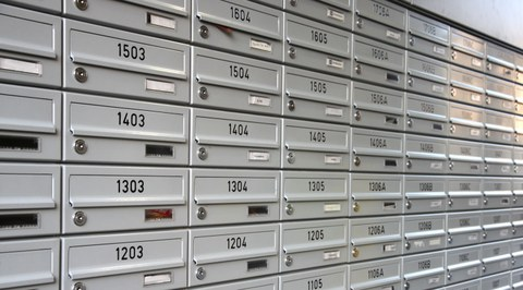 Abbildung von Briefkästen