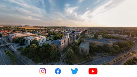 Luftaufnahme vom TU Dresden Campus